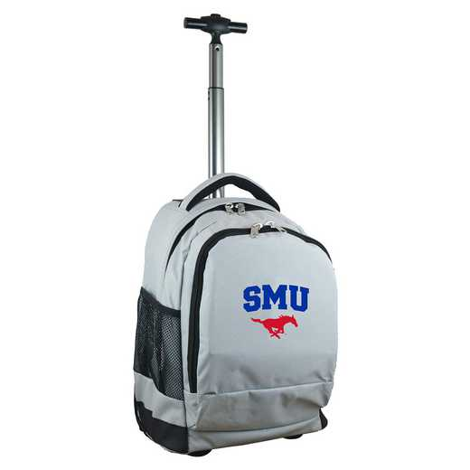 CLSML780-GY: NCAA Southern Methodist Mustangs Wheeled Premium Backpack