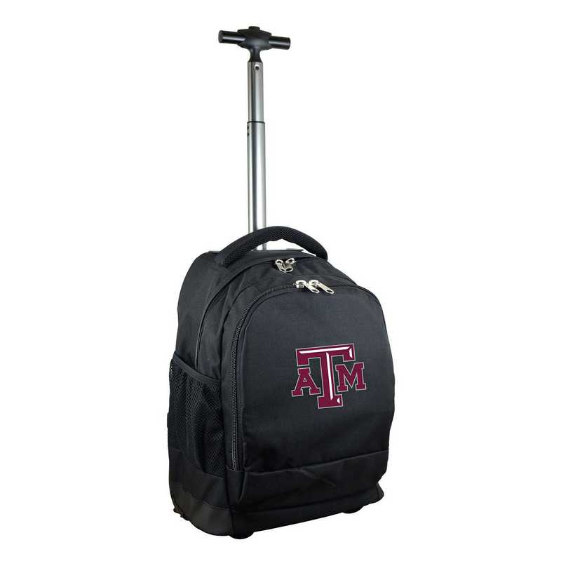 CLTAL780-BK: NCAA Texas A&M Aggies Wheeled Premium Backpack
