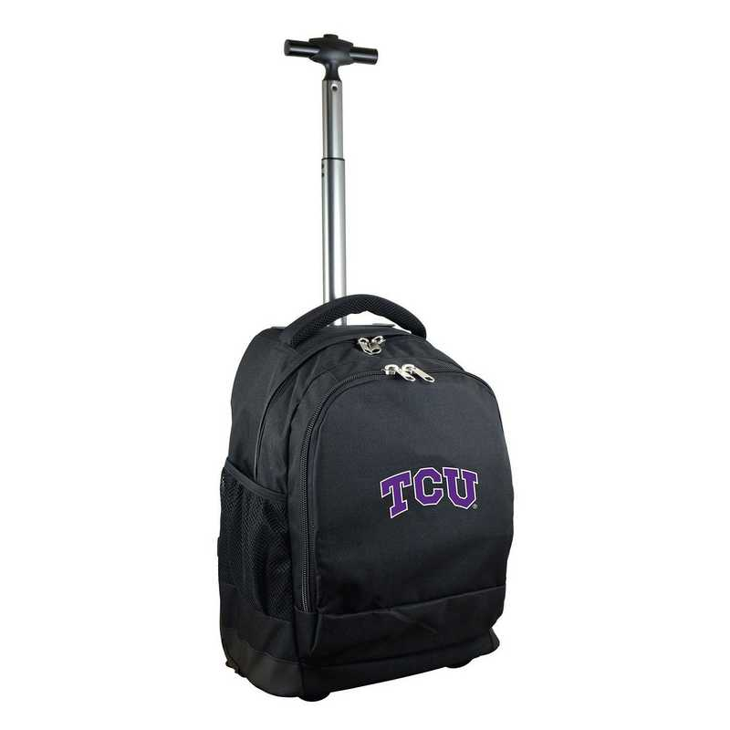 CLTCL780-BK: NCAA TCU Horned Frogs Wheeled Premium Backpack