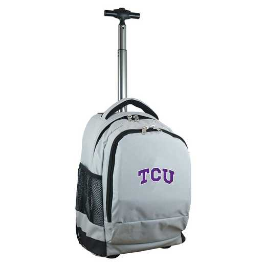 CLTCL780-GY: NCAA TCU Horned Frogs Wheeled Premium Backpack