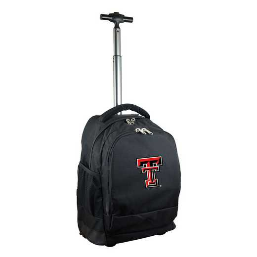 CLTTL780-BK: NCAA Texas Tech Red Raiders Wheeled Premium Backpack