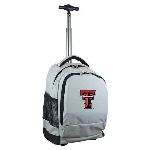 CLTTL780-GY: NCAA Texas Tech Red Raiders Wheeled Premium Backpack