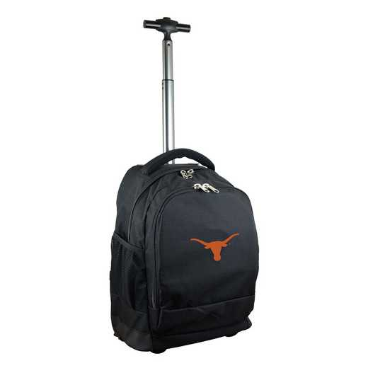 CLTXL780-BK: NCAA Texas Longhorns Wheeled Premium Backpack