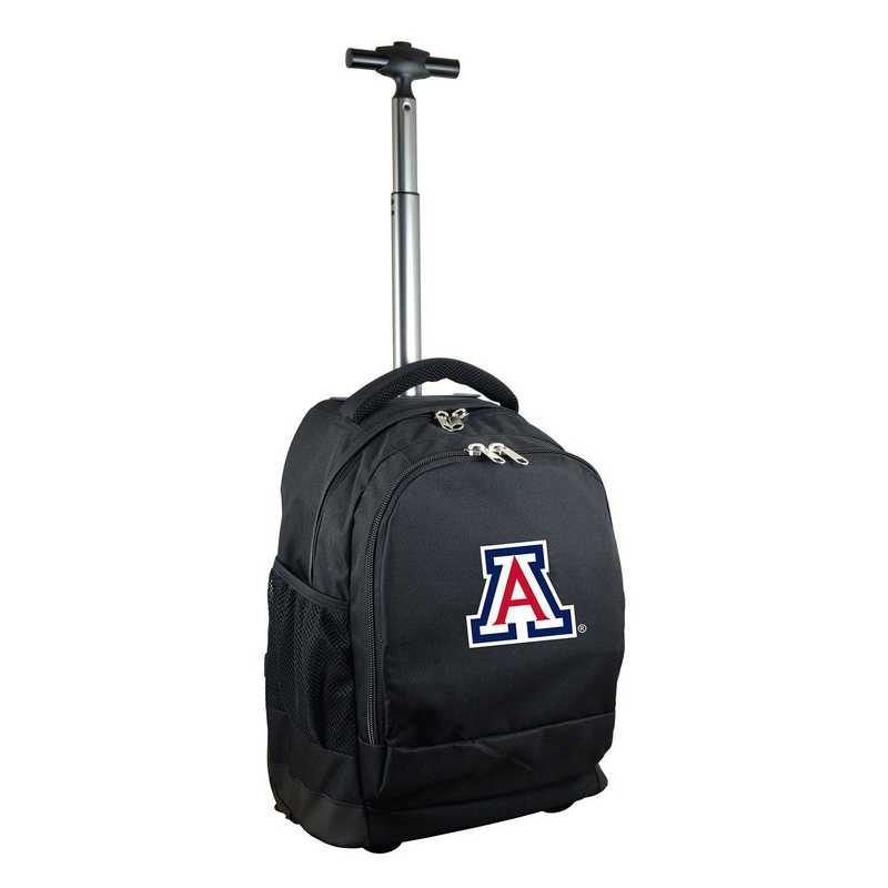CLUAL780-BK: NCAA Arizona Wildcats Wheeled Premium Backpack