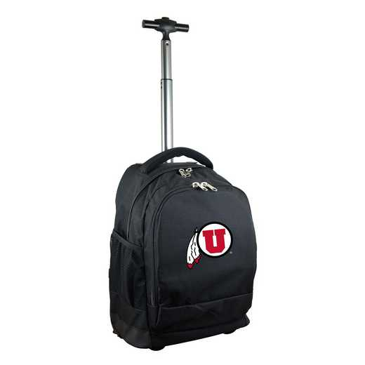 CLUTL780-BK: NCAA Utah Utes Wheeled Premium Backpack