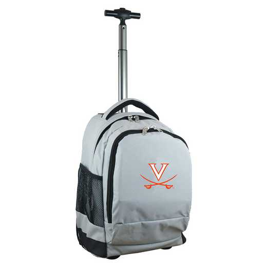 CLVIL780-GY: NCAA Virginia Cavaliers Wheeled Premium Backpack