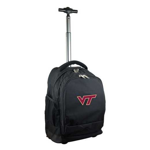 CLVTL780-BK: NCAA Virginia Tech Hokies Wheeled Premium Backpack