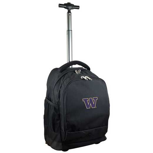 CLWAL780-BK: NCAA Washington Huskies Wheeled Premium Backpack