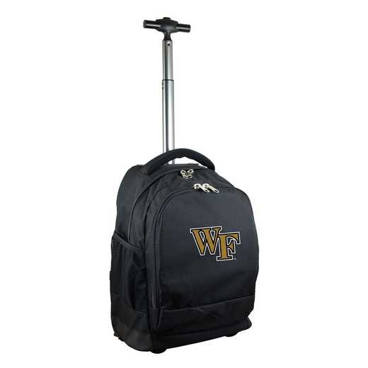 CLWFL780-BK: NCAA Wake Forest Demon Deacons Wheeled Premium Backpack