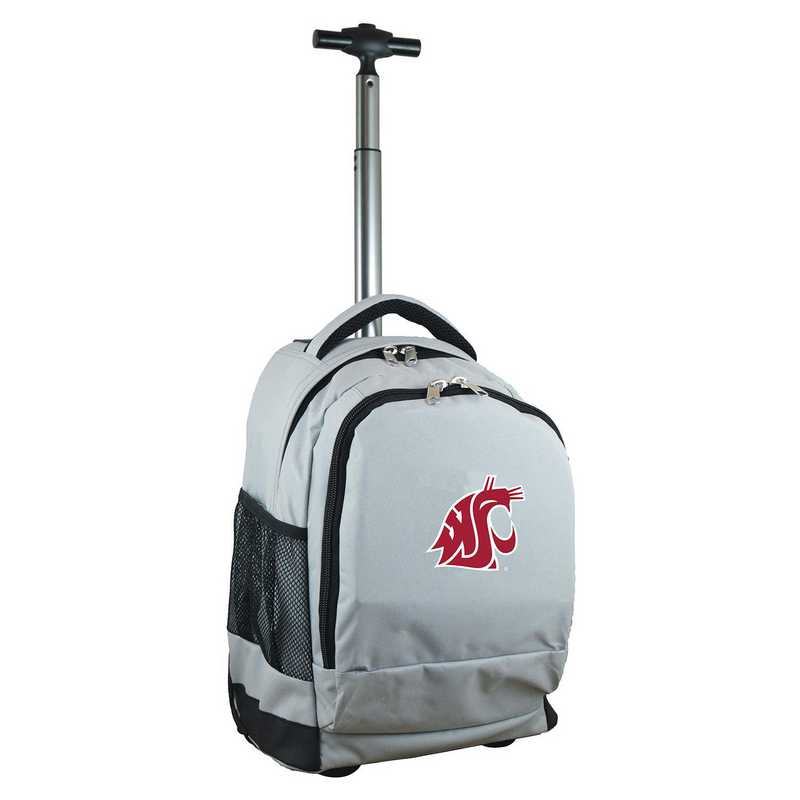 CLWSL780-GY: NCAA Washington State Cougars Wheeled Premium Backpack