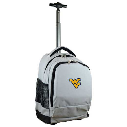 CLWVL780-GY: NCAA West Virginia Mountaineers Wheeled Premium Backpack