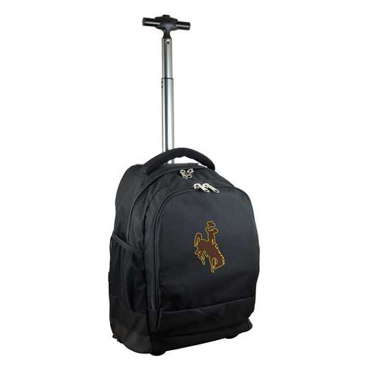 CLWYL780-BK: NCAA Wyoming Cowboys Wheeled Premium Backpack