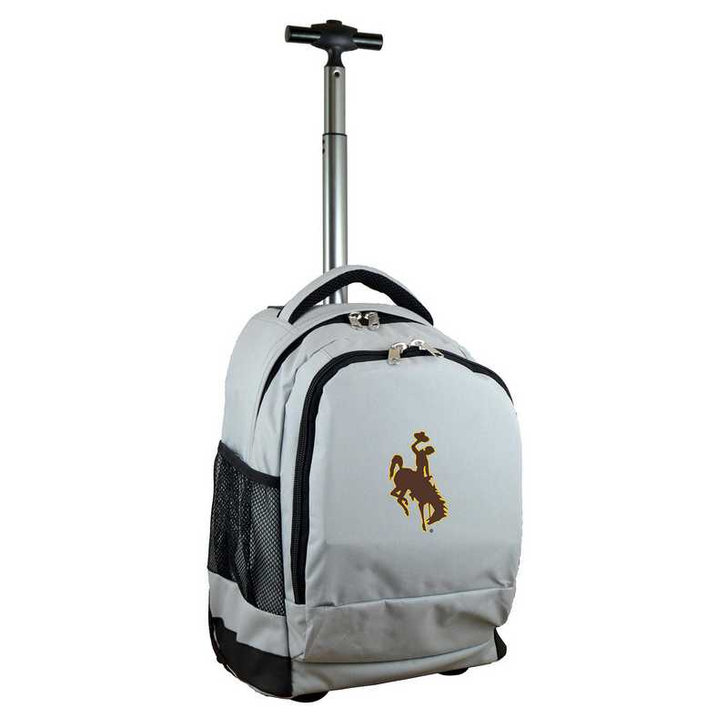 CLWYL780-GY: NCAA Wyoming Cowboys Wheeled Premium Backpack
