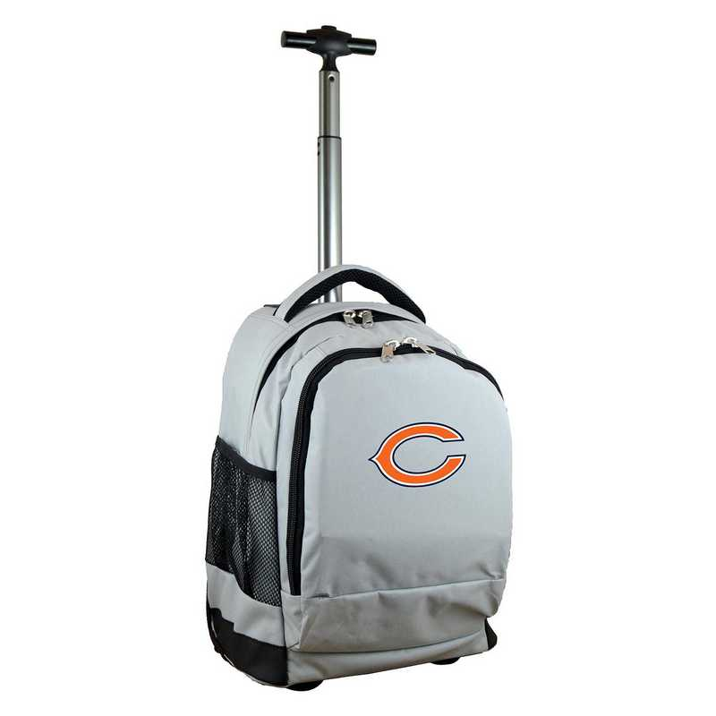 NFCHL780-GY: NFL Chicago Bears Wheeled Premium Backpack