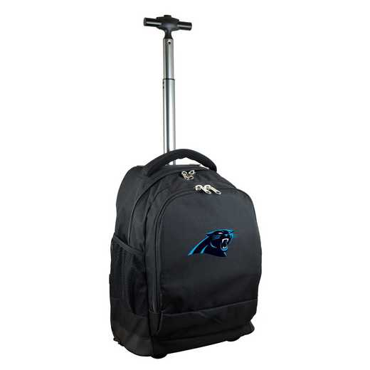 NFCPL780-BK: NFL Carolina Panthers Wheeled Premium Backpack