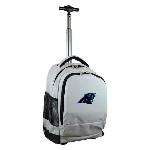 NFCPL780-GY: NFL Carolina Panthers Wheeled Premium Backpack