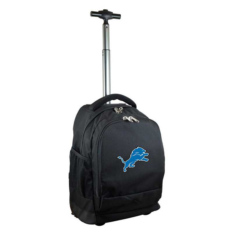 NFDLL780-BK: NFL Detroit Lions Wheeled Premium Backpack