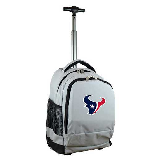 NFHTL780-GY: NFL Houston Texans Wheeled Premium Backpack