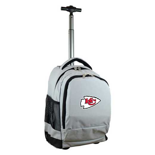 NFKCL780-GY: NFL Kansas City Chiefs Wheeled Premium Backpack