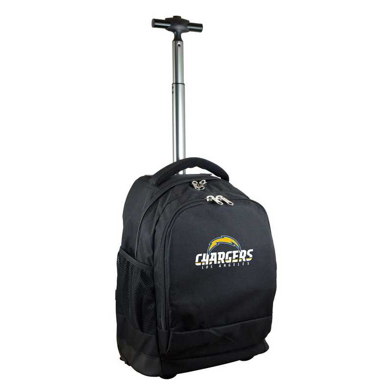 NFLCL780-BLACK: NFL Los Angeles Chargers  Wheeled Premium Backpack