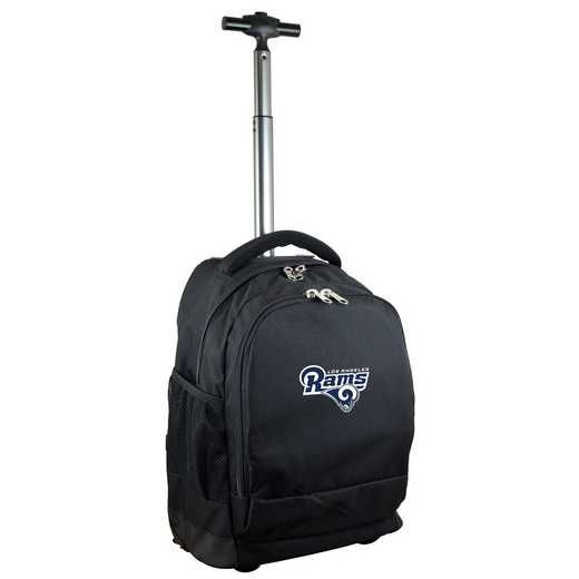 NFLRL780-BK: NFL Los Angeles Rams Wheeled Premium Backpack