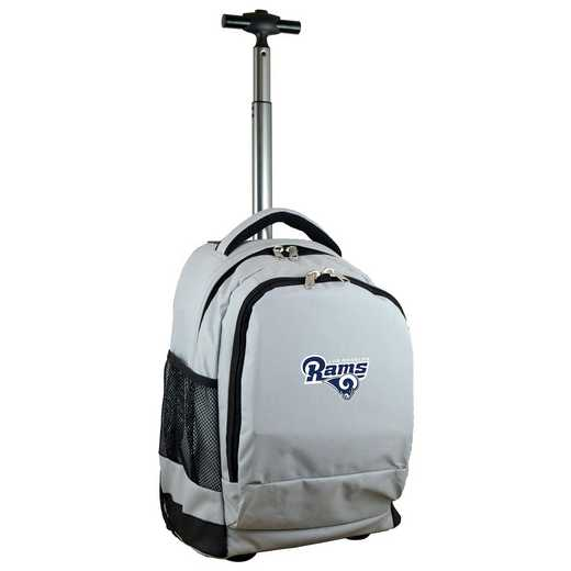 NFLRL780-GY: NFL Los Angeles Rams Wheeled Premium Backpack
