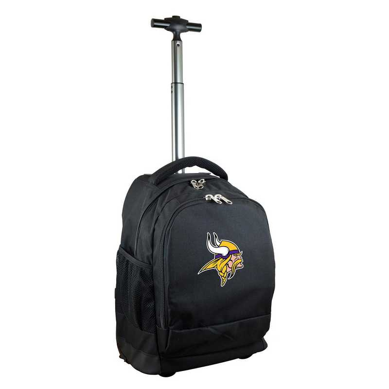 NFMVL780-BK: NFL Minnesota Vikings Wheeled Premium Backpack