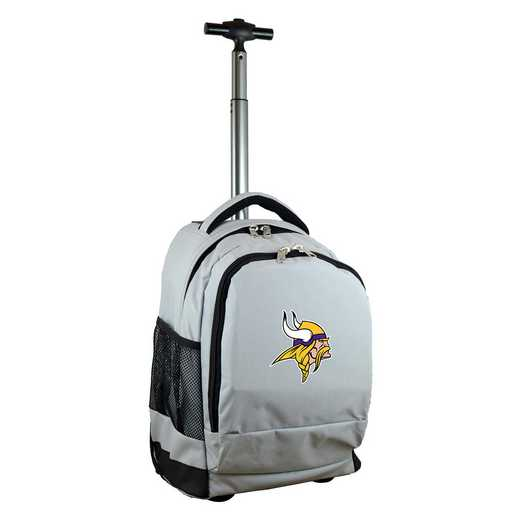 NFMVL780-GY: NFL Minnesota Vikings Wheeled Premium Backpack