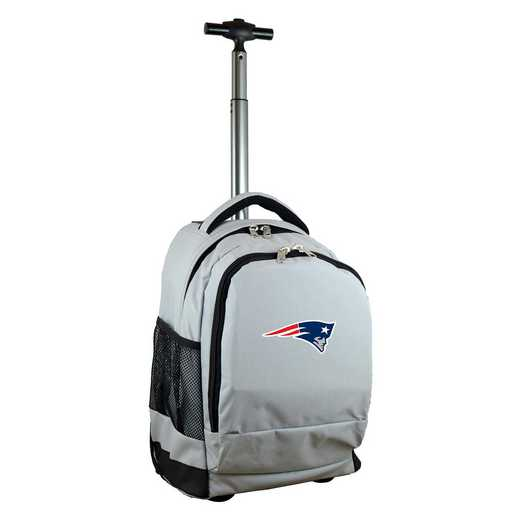 NFNPL780-GY: NFL New England Patriots Wheeled Premium Backpack