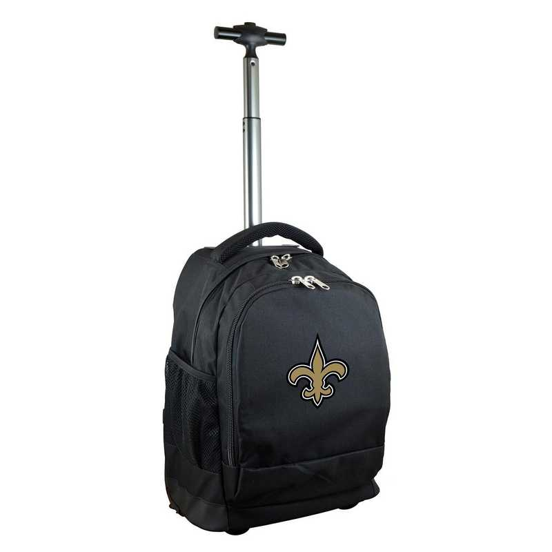 NFNSL780-BK: NFL New Orleans Saints Wheeled Premium Backpack