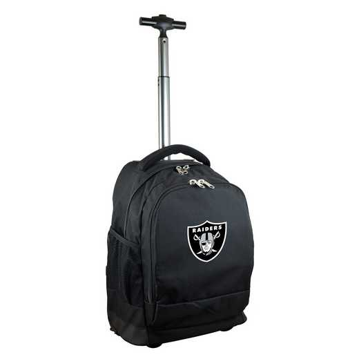 NFORL780-BK: NFL Oakland Raiders Wheeled Premium Backpack