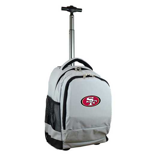 NFSFL780-GY: NFL San Francisco 49ers Wheeled Premium Backpack