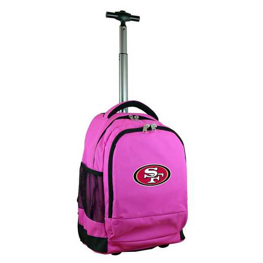 NFSFL780-PK: NFL San Francisco 49ers Wheeled Premium Backpack