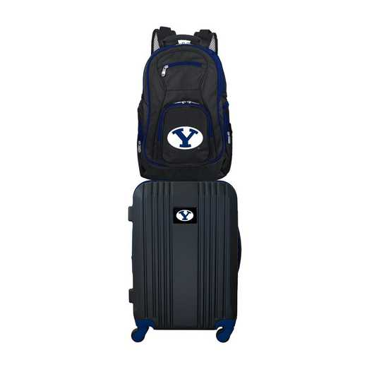 CLBYL108: NCAA Brigham Young Cougars 2 PC ST Luggage / Backpack