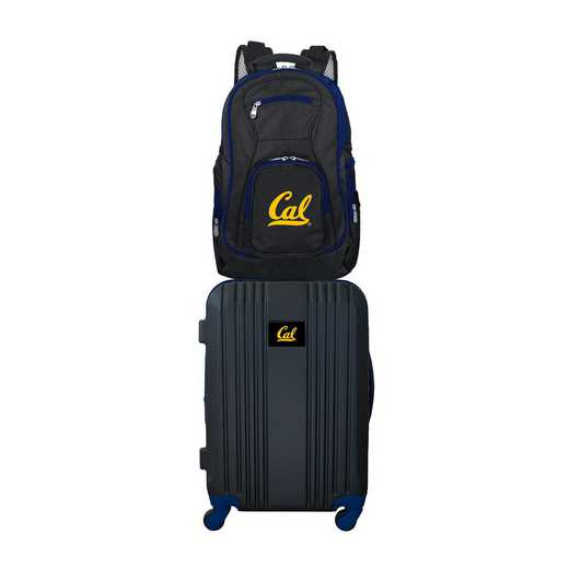CLCBL108: NCAA California Bears 2 PC ST Luggage / Backpack