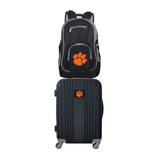 CLCLL108: NCAA Clemson Tigers 2 PC ST Luggage / Backpack