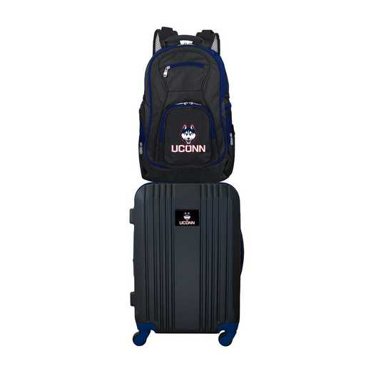 CLCNL108: NCAA Connecticut Huskies 2 PC ST Luggage / Backpack