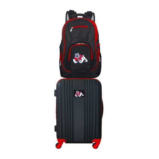 CLFRL108: NCAA Fresno State Bulldogs 2 PC ST Luggage / Backpack