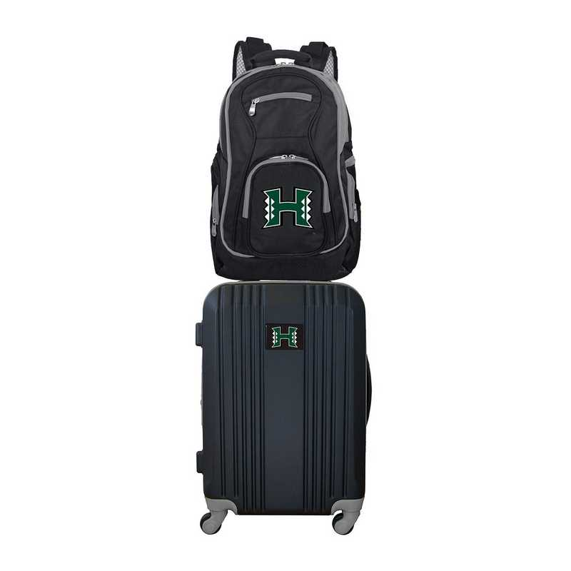 CLHIL108: NCAA Hawaii Warriors 2 PC ST Luggage / Backpack