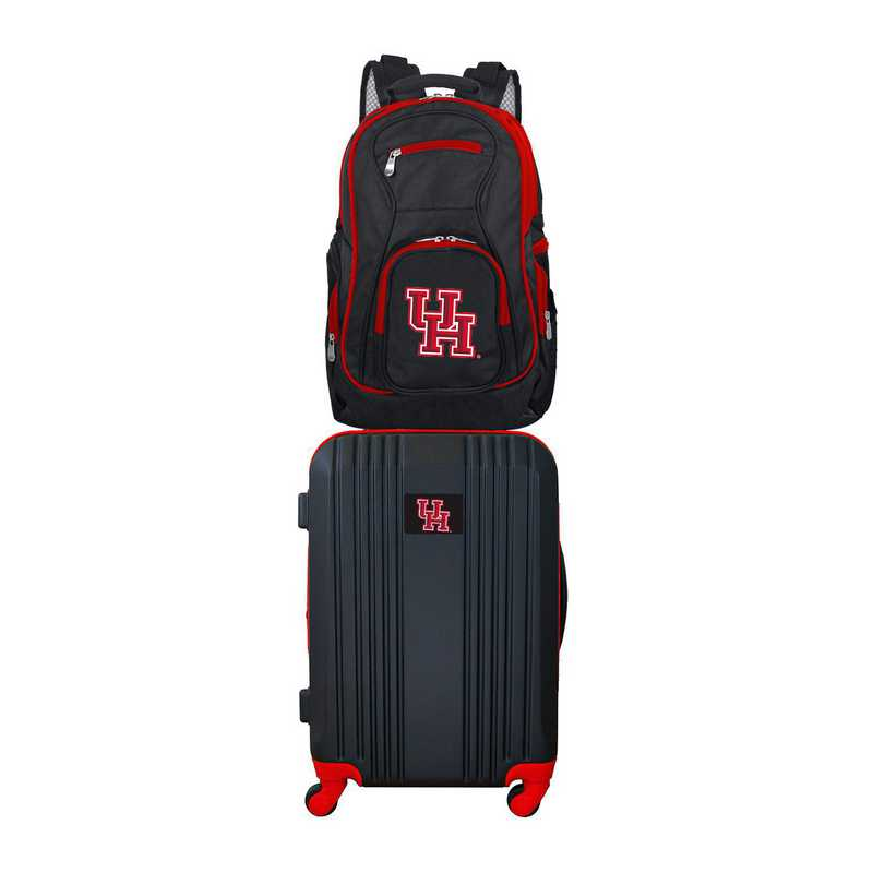 CLHUL108: NCAA Houston Cougars 2 PC ST Luggage / Backpack