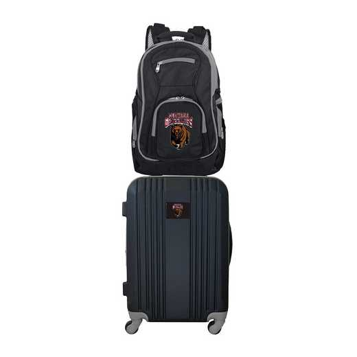 CLMGL108: NCAA Montana Grizzlies 2 PC ST Luggage / Backpack