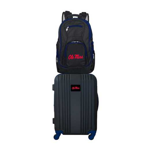 CLMIL108: NCAA Mississippi Ole Miss 2 PC ST Luggage / Backpack