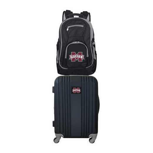CLMPL108: NCAA Mississippi State Bulldogs 2 PC ST Luggage / Backpack