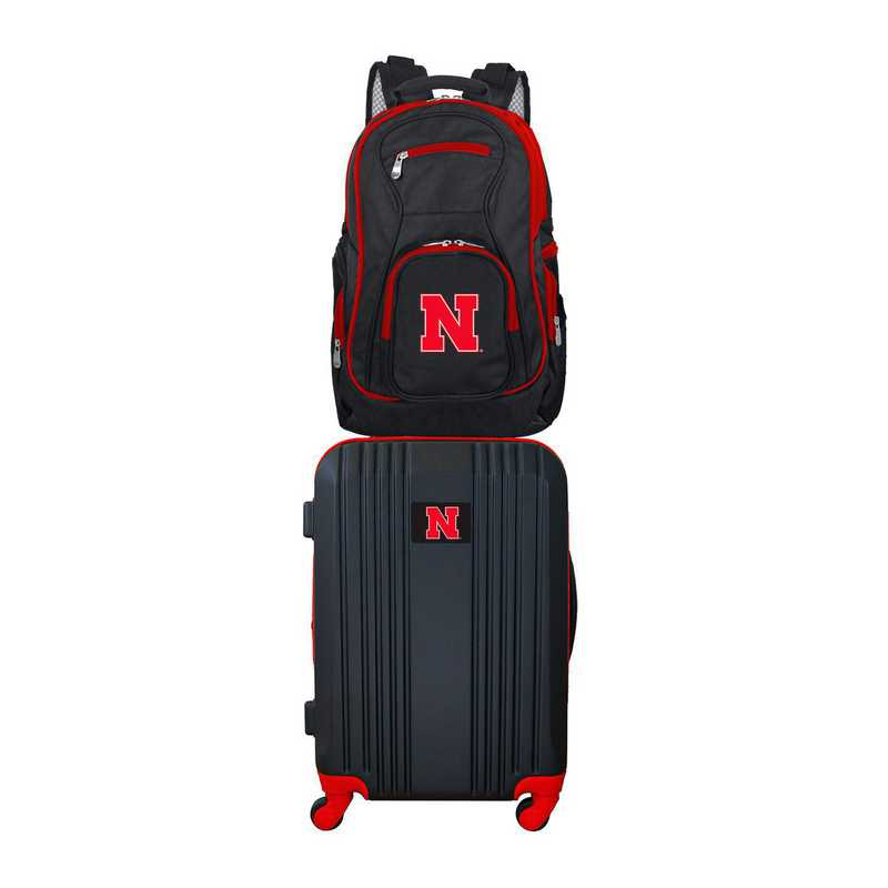 CLNBL108: NCAA Nebraska Cornhuskers 2 PC ST Luggage / Backpack