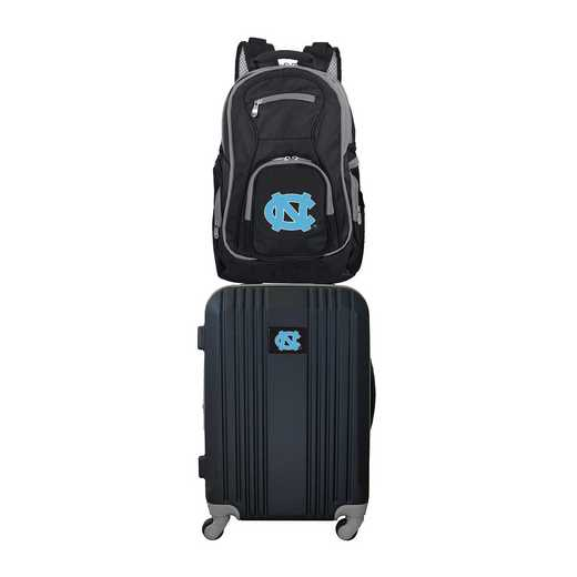 CLNCL108: NCAA UNC Tar Heels 2 PC ST Luggage / Backpack