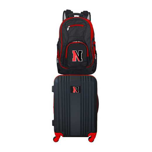 CLNEL108: NCAA Northeastern Huskies 2 PC ST Luggage / Backpack
