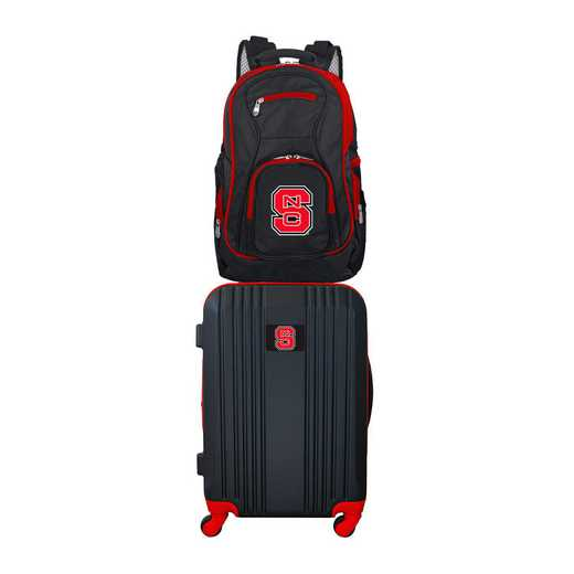 CLNSL108: NCAA NC State Wolfpack 2 PC ST Luggage / Backpack