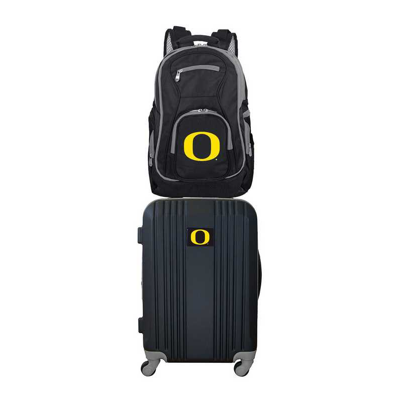 CLODL108: NCAA Oregon Ducks 2 PC ST Luggage / Backpack