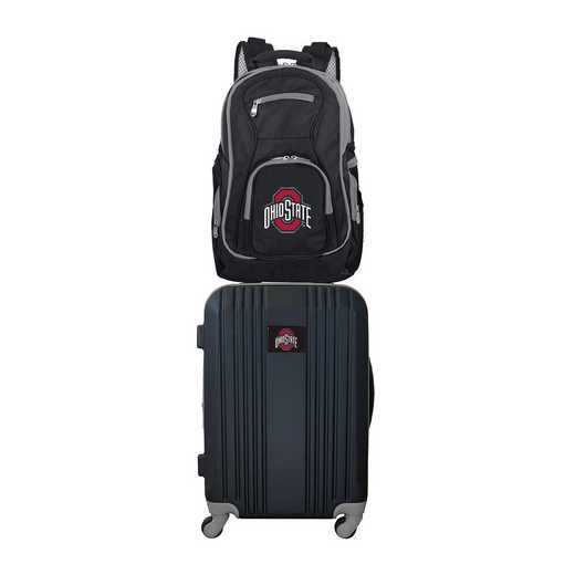 CLOSL108: NCAA Ohio State Unv. Buckeyes 2 PC ST Luggage / Backpack