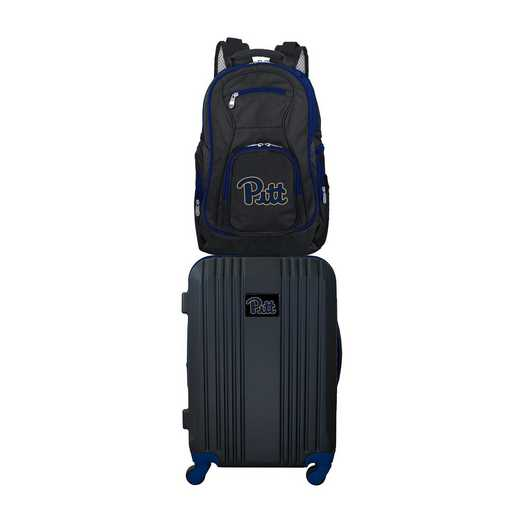 CLPIL108: NCAA Pittsburgh Panthers 2 PC ST Luggage / Backpack